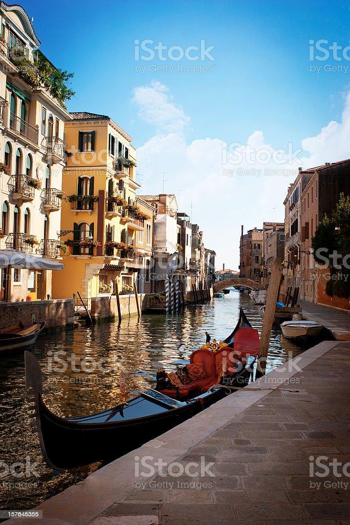 Lonly gondola stock photo