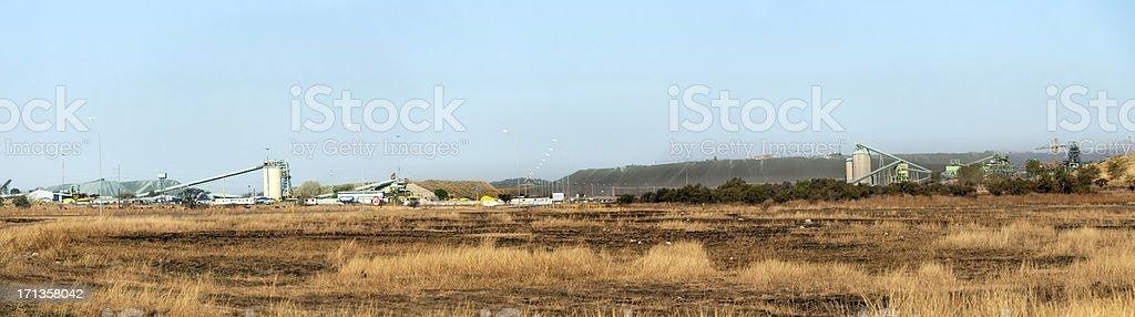Lonmin Mine near Marikana stock photo