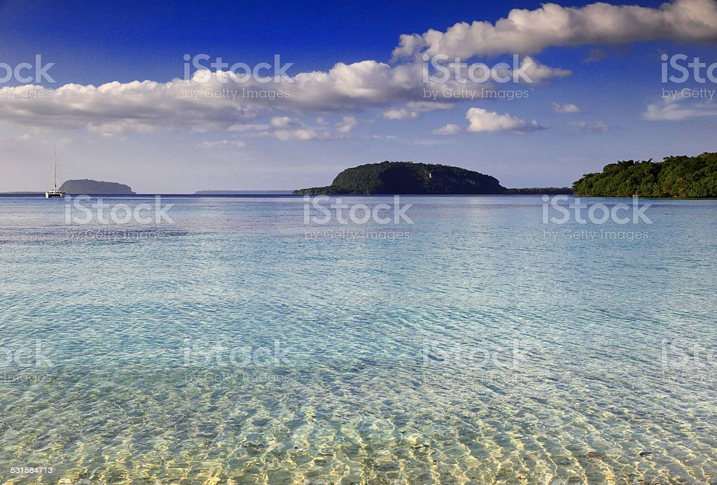 Lonnoc beach-Espiritu Santo stock photo