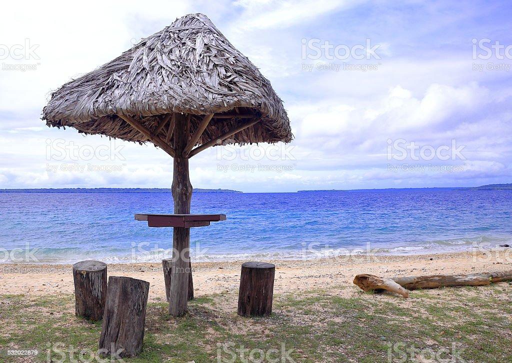 Lonnoc beach-Vanuatu stock photo