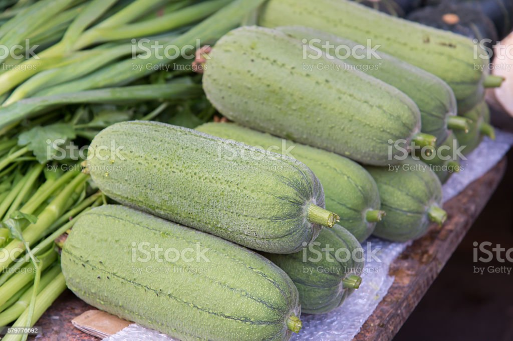 Loofah in the market stock photo