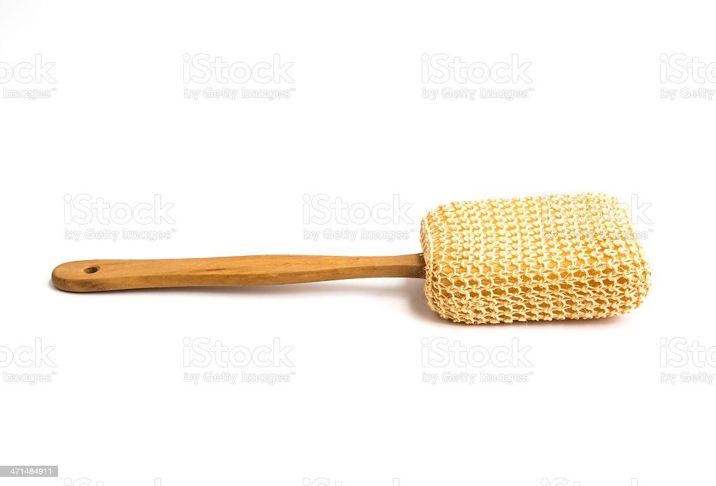 Loofah Long Handled Back Brush royalty-free stock photo