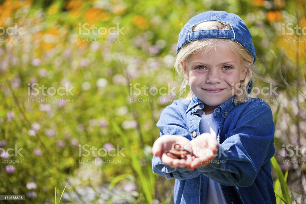 Look a worm stock photo