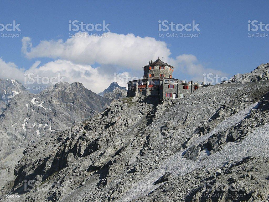 Look around on the Stelvio Pass,Dolomites royalty-free stock photo