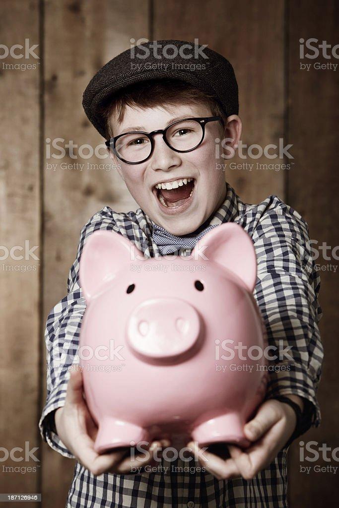 Look at all my savings! royalty-free stock photo