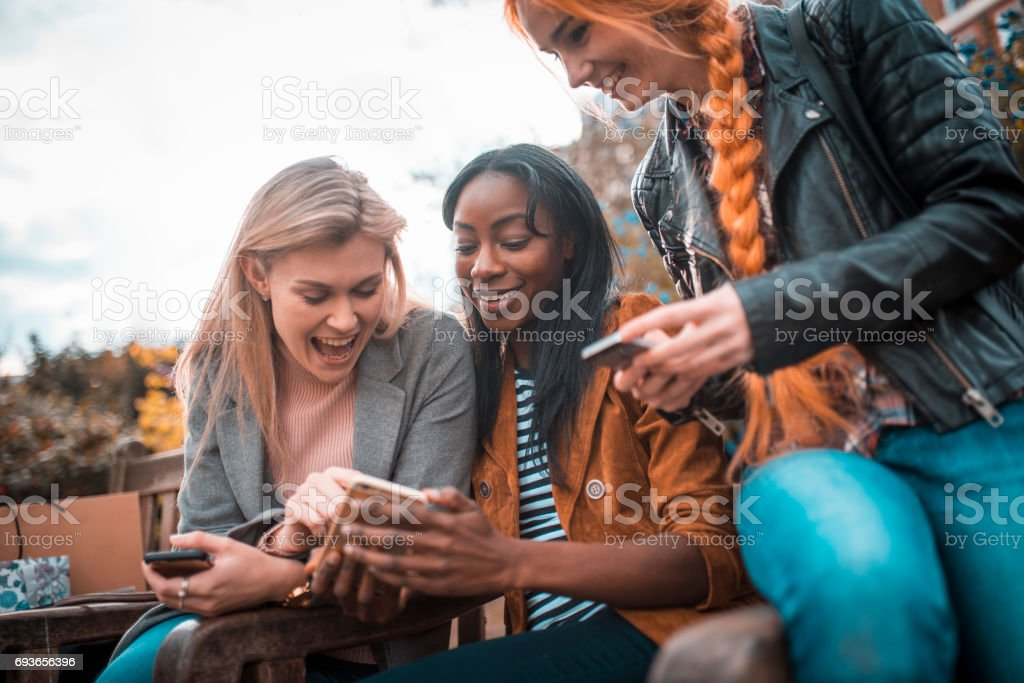 Look at me! I'm so funny! stock photo