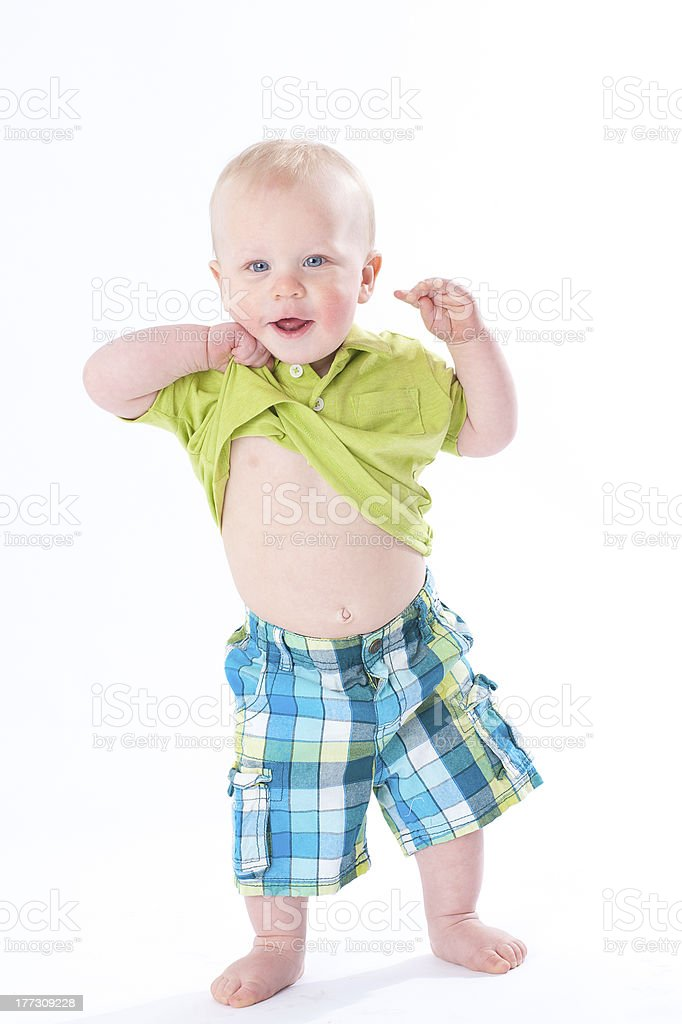 Look at my belly stock photo
