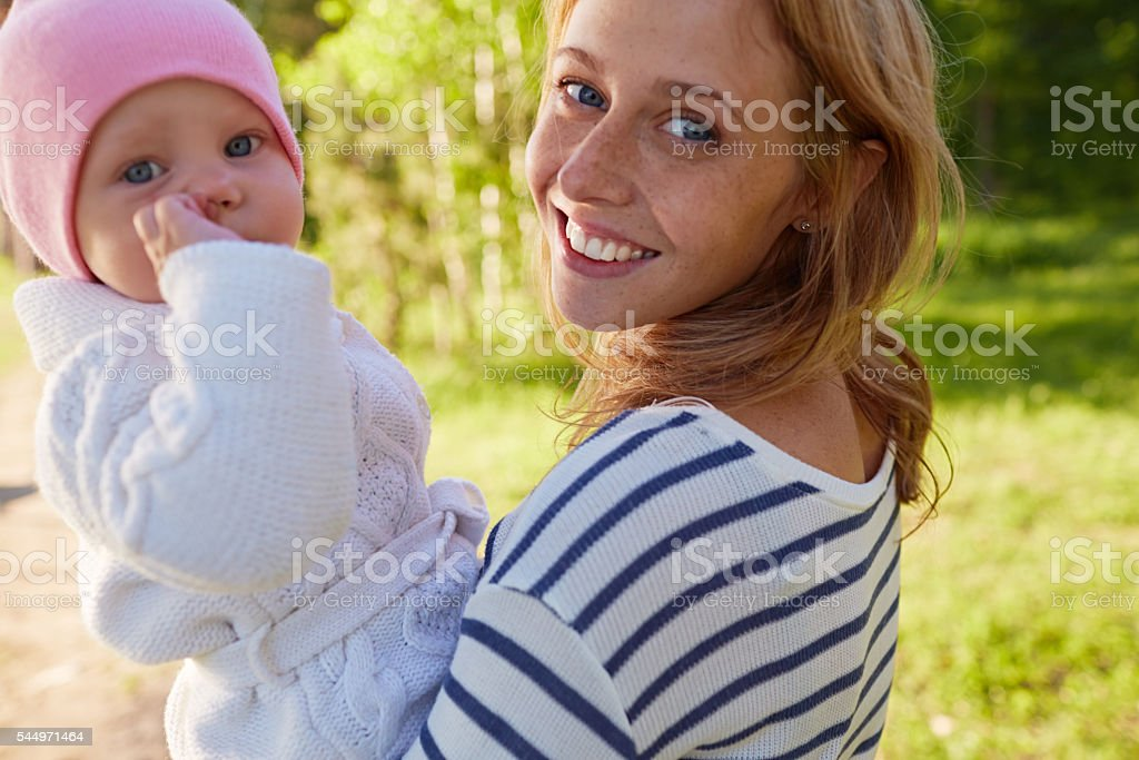 Look at my daughter stock photo