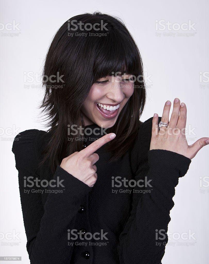 Look at my Diamon Ring! royalty-free stock photo