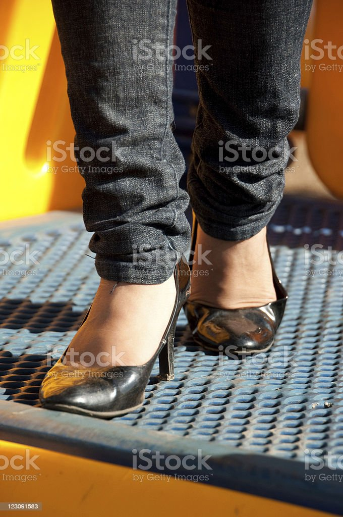 look at my feet stock photo
