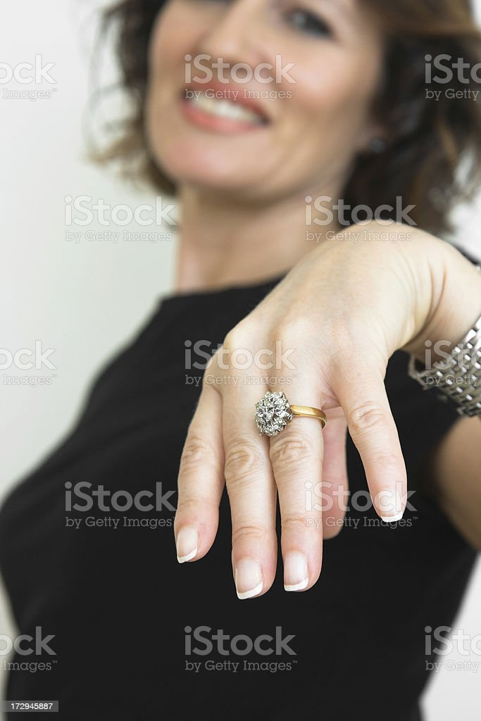 Look at my ring stock photo