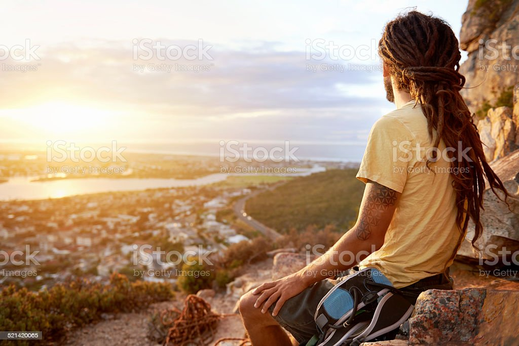 Look at that beautiful view stock photo