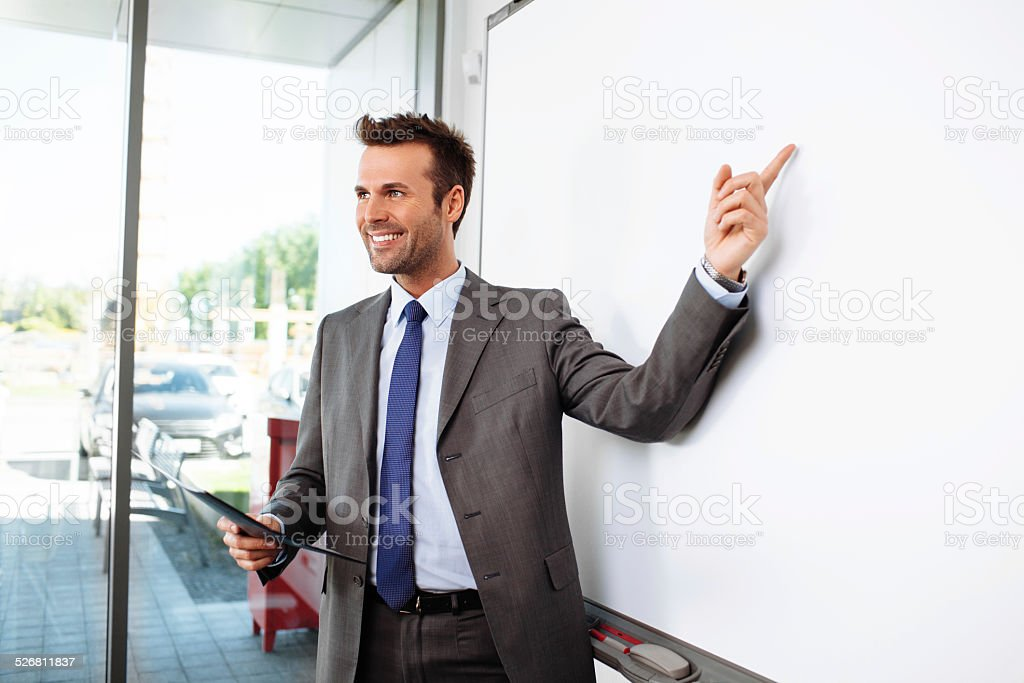 Look at the board stock photo