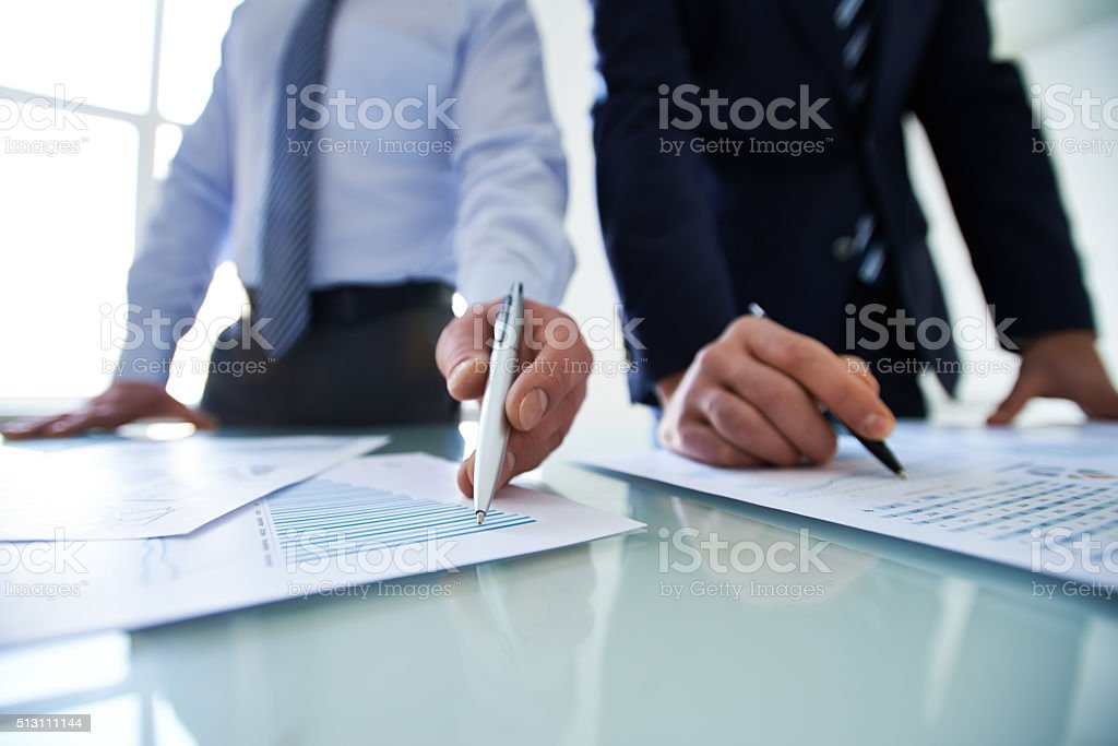 Look at the data stock photo
