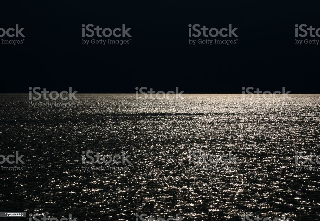 A look at the horizon under the moonlight royalty-free stock photo