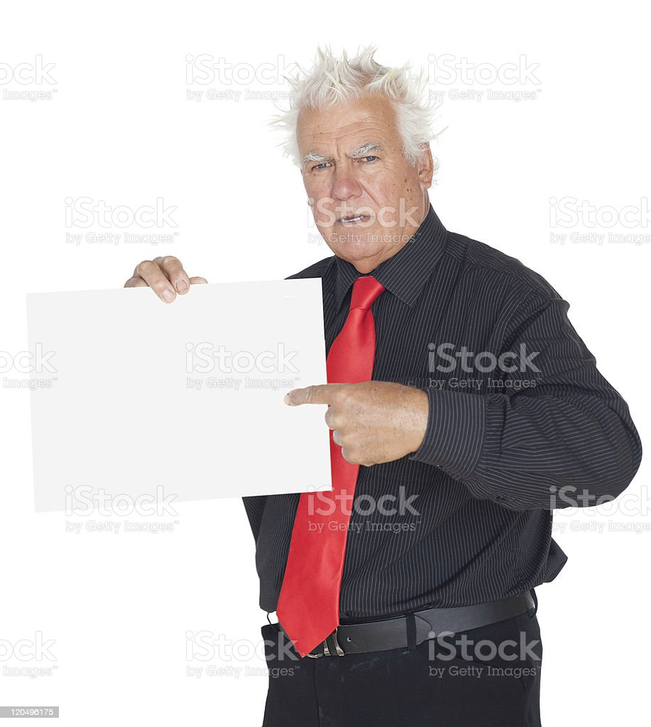 Look at the sign please! royalty-free stock photo
