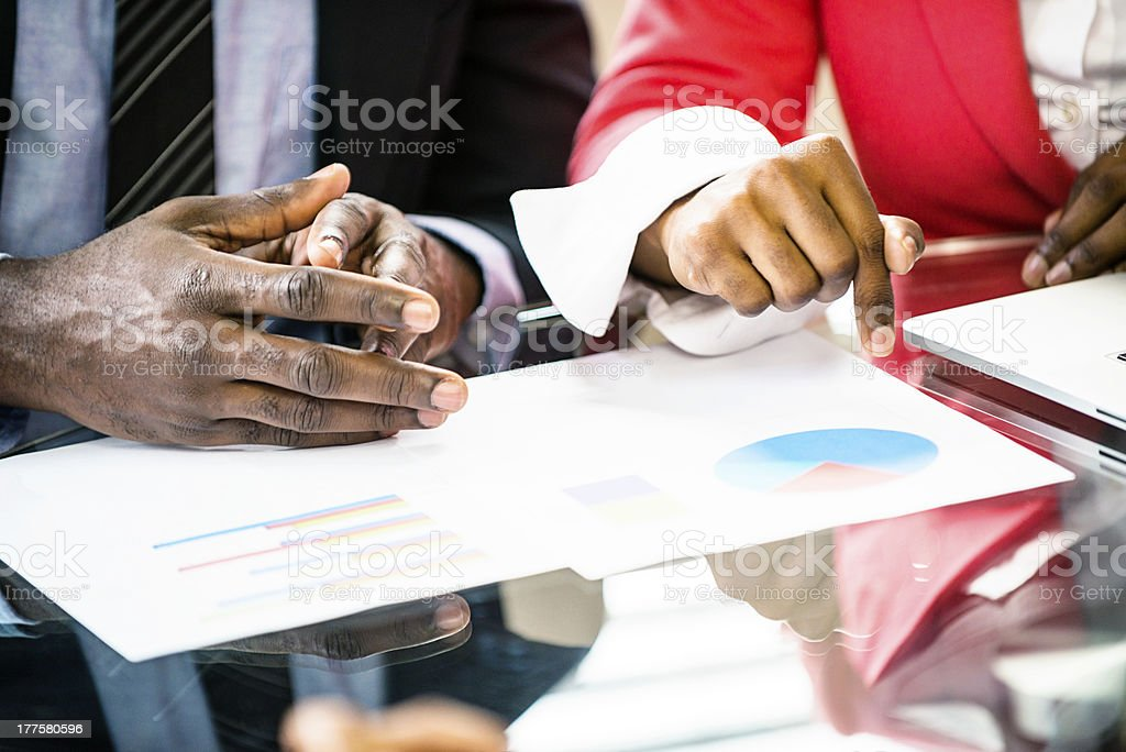 Look At The Statistics royalty-free stock photo
