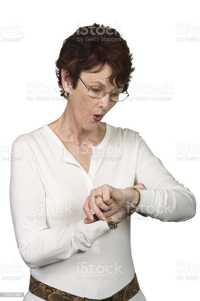 Look at the Time! stock photo