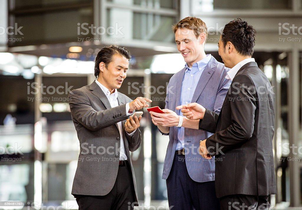 Look at this email from our CEO, bonuses are out! stock photo