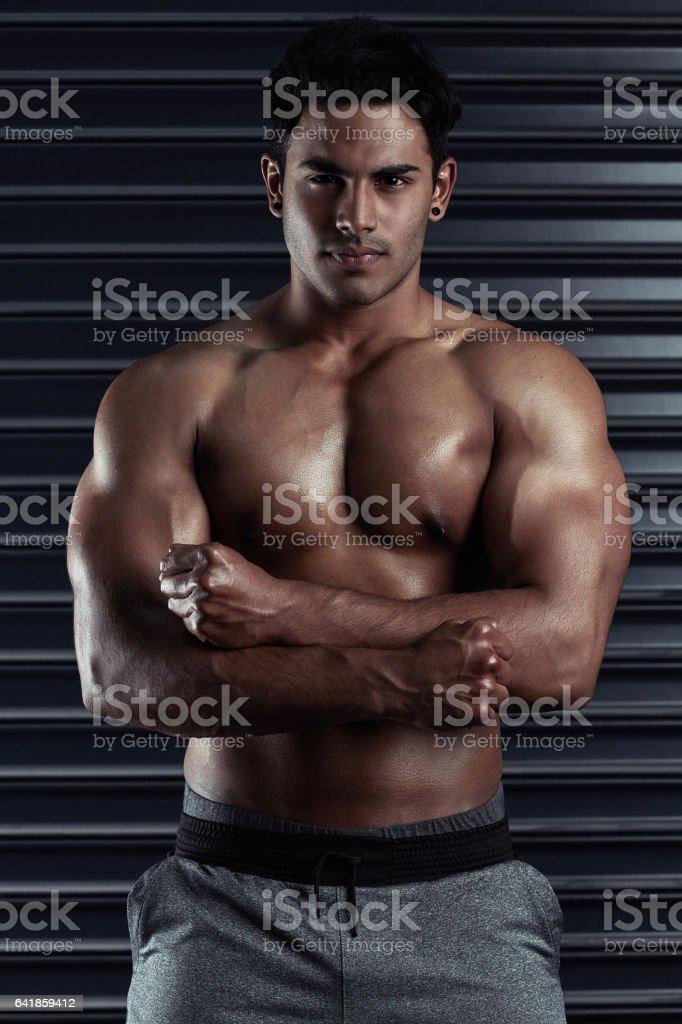Look at this hunk of a man stock photo
