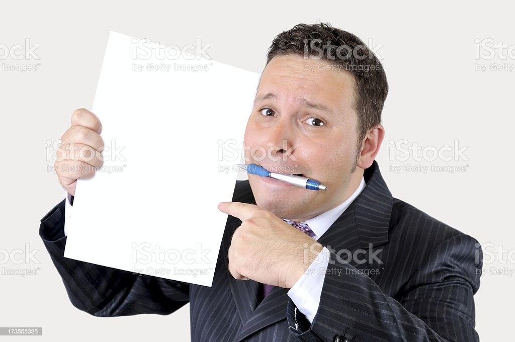 look at this paper royalty-free stock photo