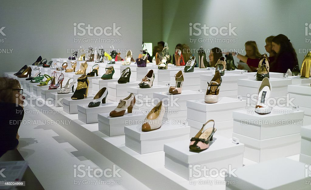 Look at those heels stock photo