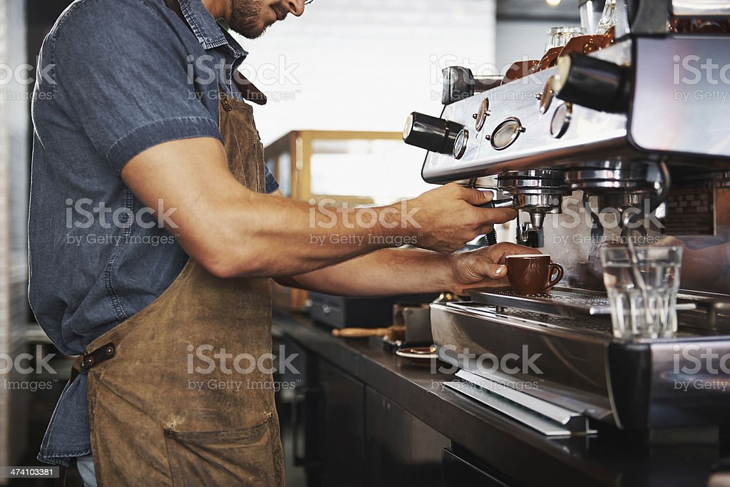 Look at those skilled hands! stock photo