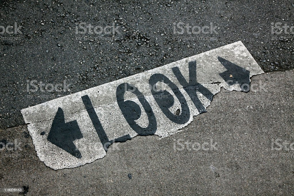 Look Both Ways royalty-free stock photo