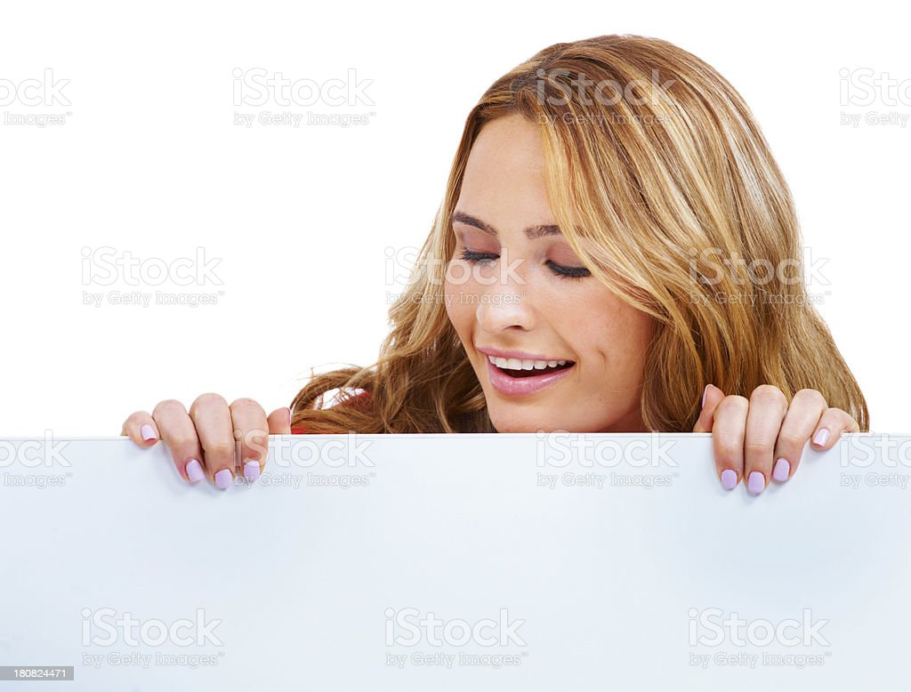 Look! Copyspace down there! royalty-free stock photo