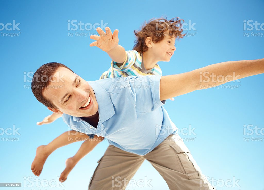 Look dad, I'm flying! royalty-free stock photo