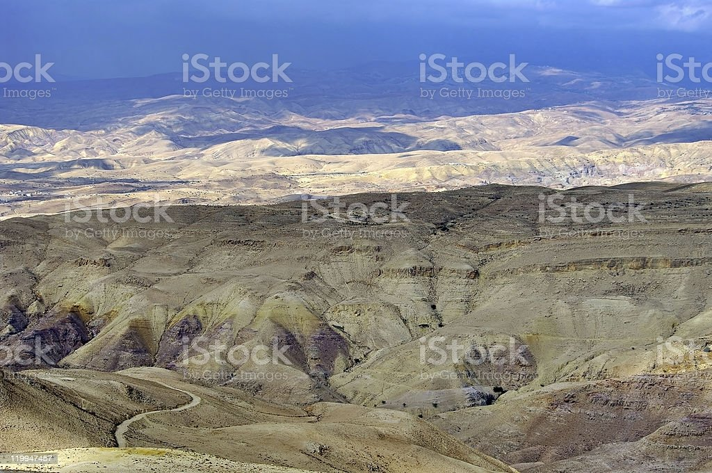 Look from 'Mount Nebo' hill to the valley. stock photo