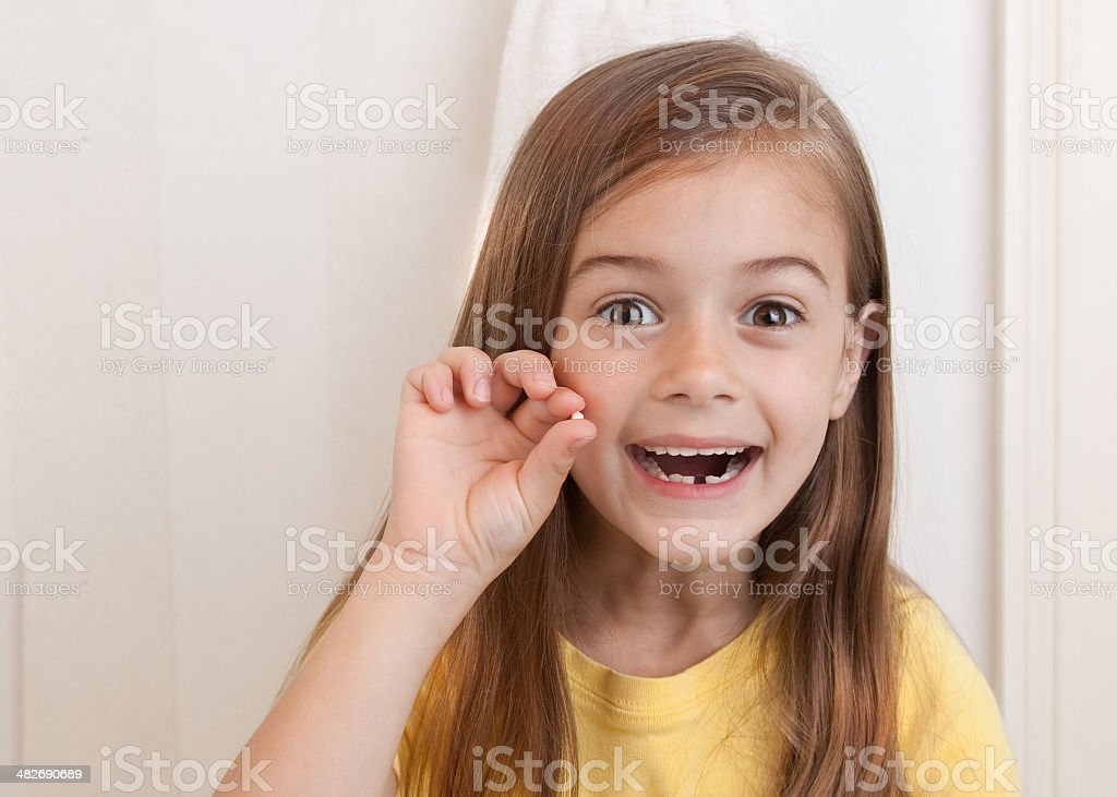 Look! I Lost My First Tooth! stock photo