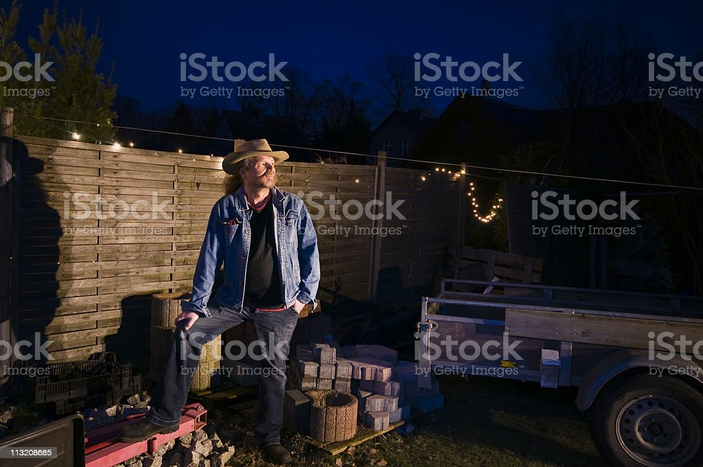 look in th darkness royalty-free stock photo