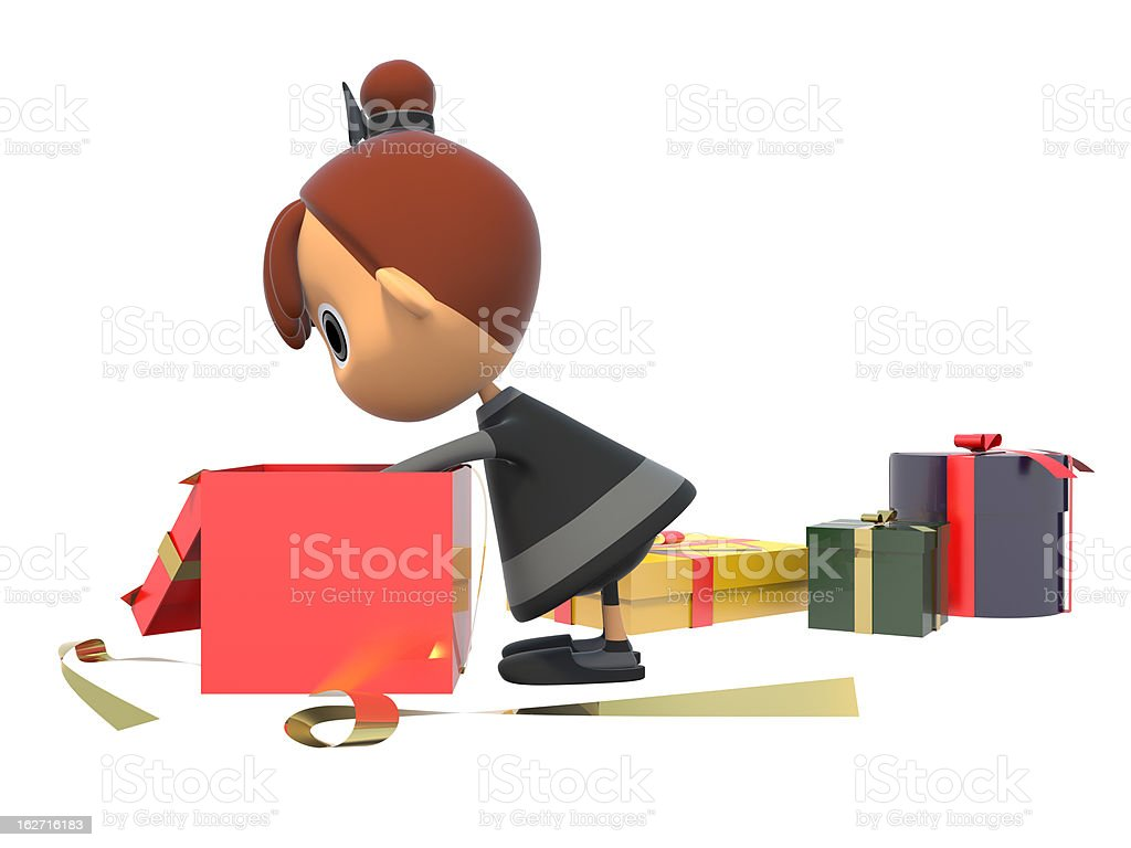 Look in the gift box royalty-free stock photo