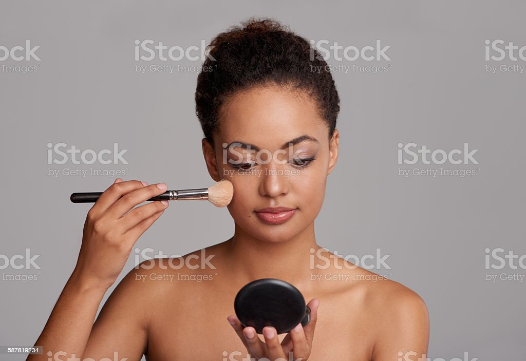 Look in the mirror, that's your competition! stock photo