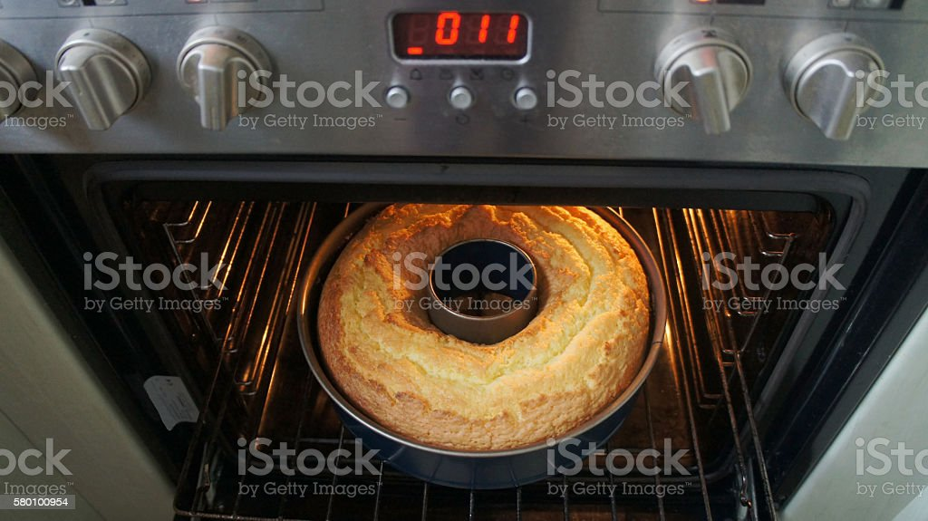 Look in the oven stock photo
