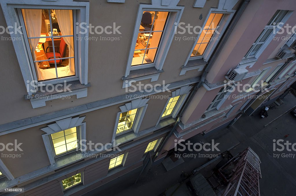 Look into window royalty-free stock photo