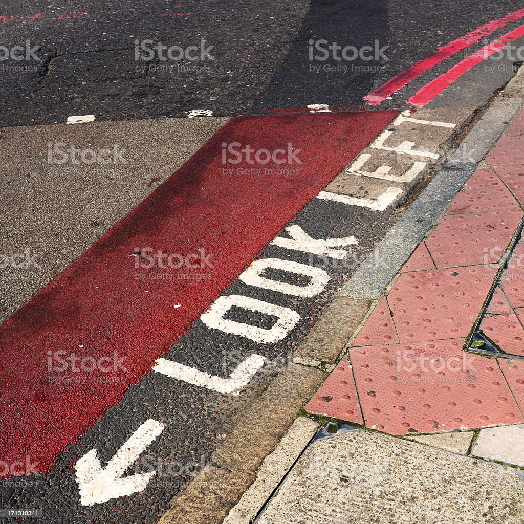 Look left sign royalty-free stock photo