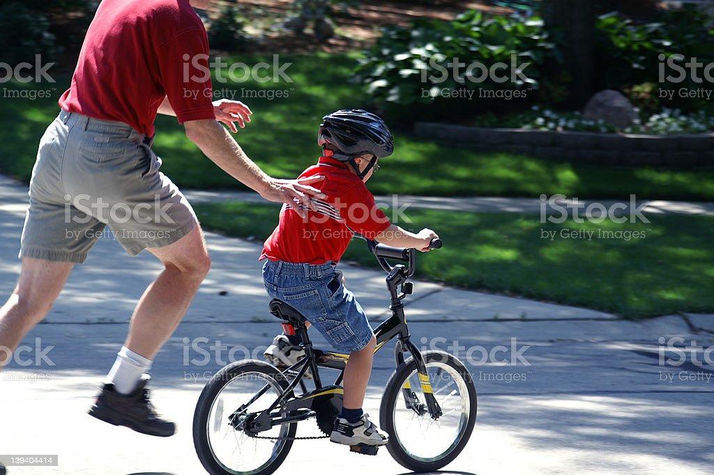 Look Ma no training wheels stock photo