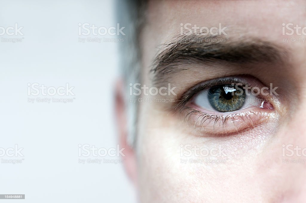 Look me in the eye stock photo