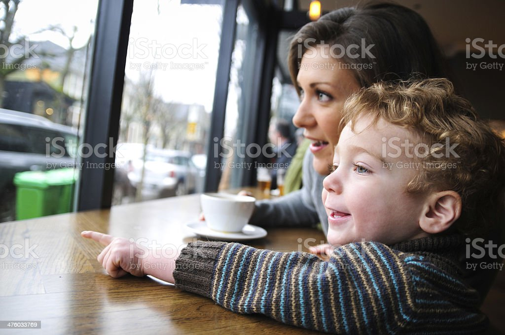 Look Mommy! stock photo