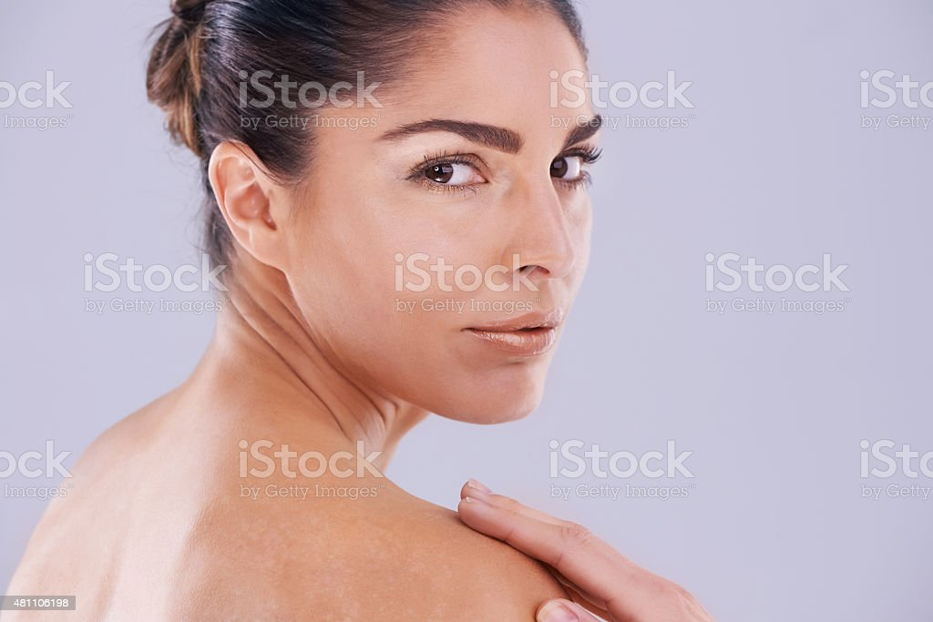 Look natural, but it takes makeup to look natural stock photo
