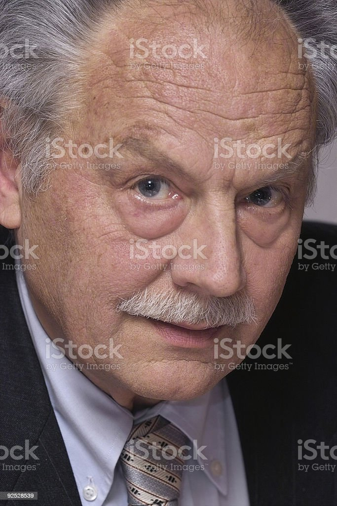 Look of a business man stock photo