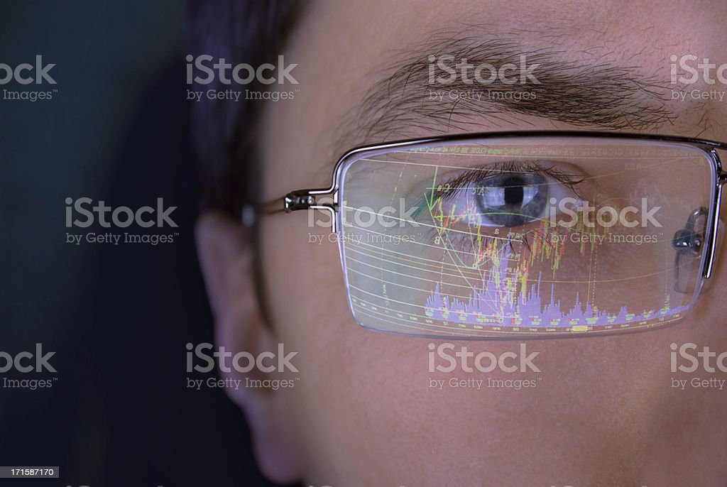 Look of analyst royalty-free stock photo