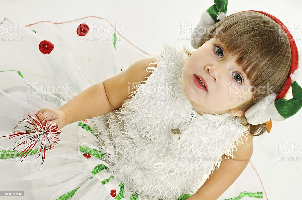 look of girl in festive attire royalty-free stock photo
