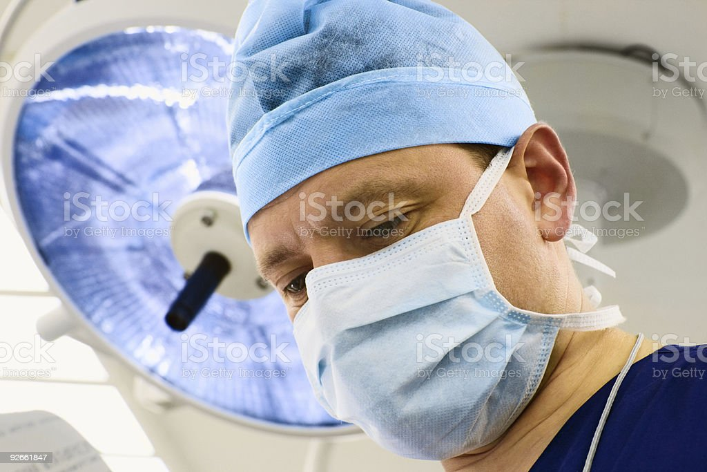 look of surgeon with lamp royalty-free stock photo