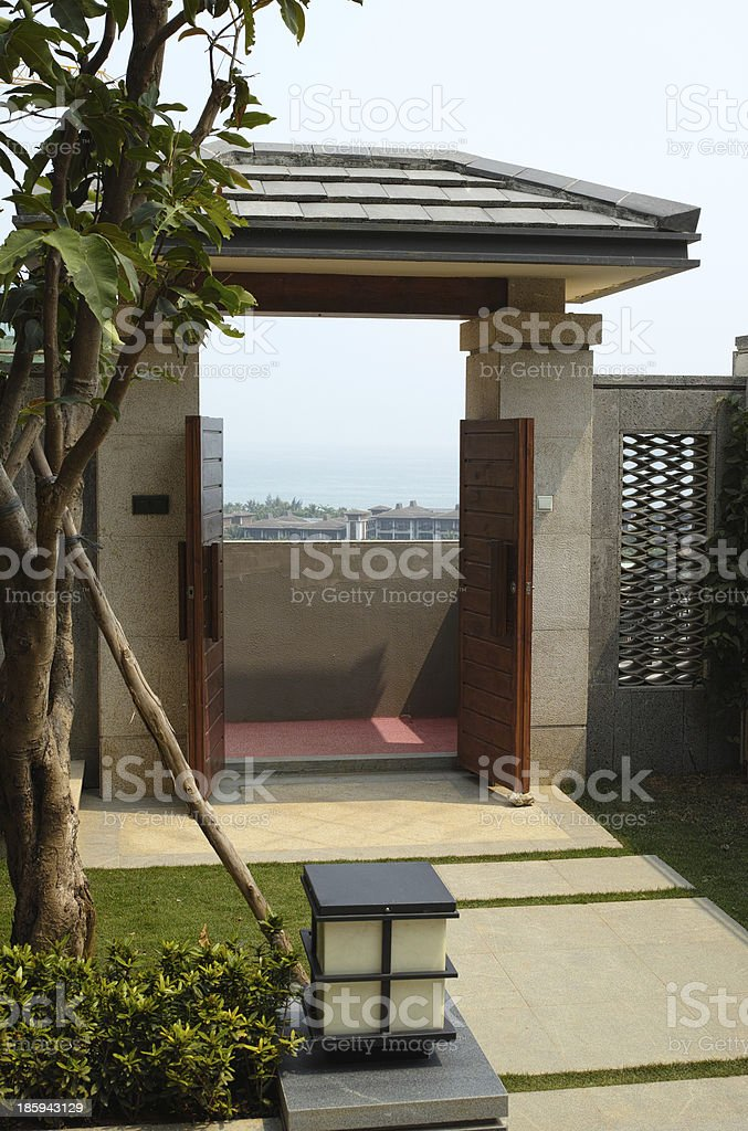 look out the door royalty-free stock photo