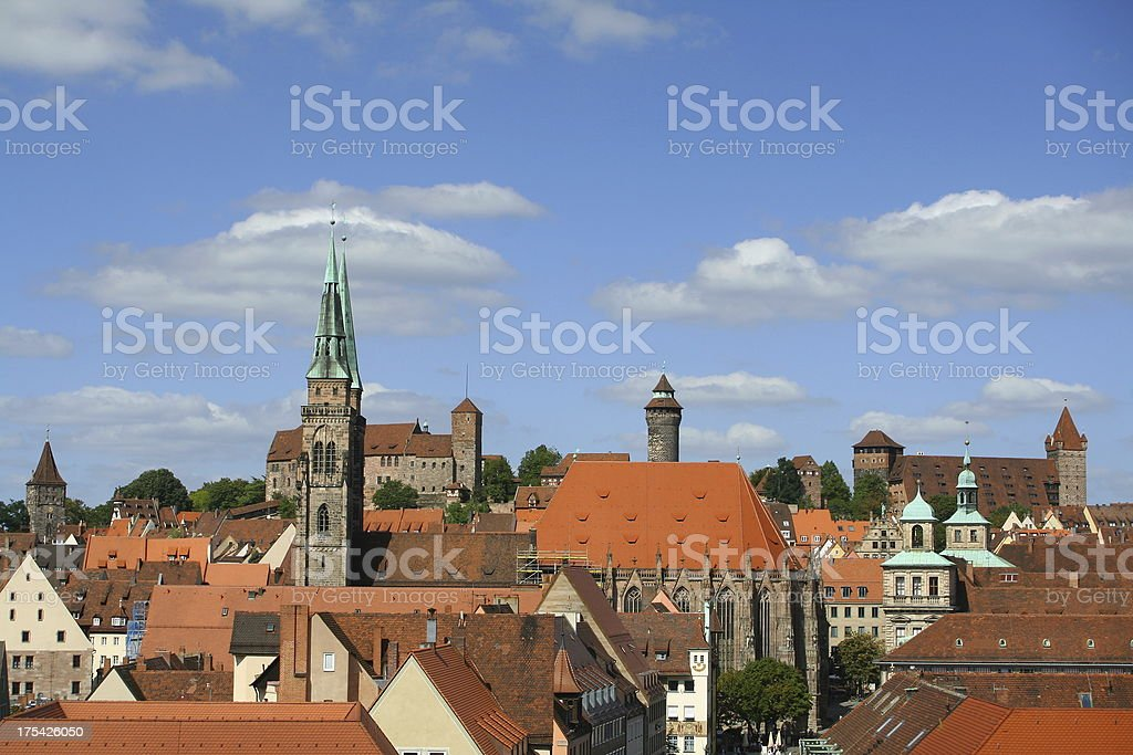 look over Nuernberg royalty-free stock photo