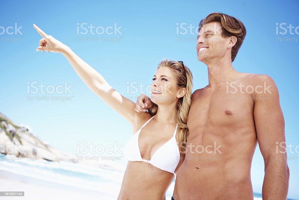 Look over there... royalty-free stock photo