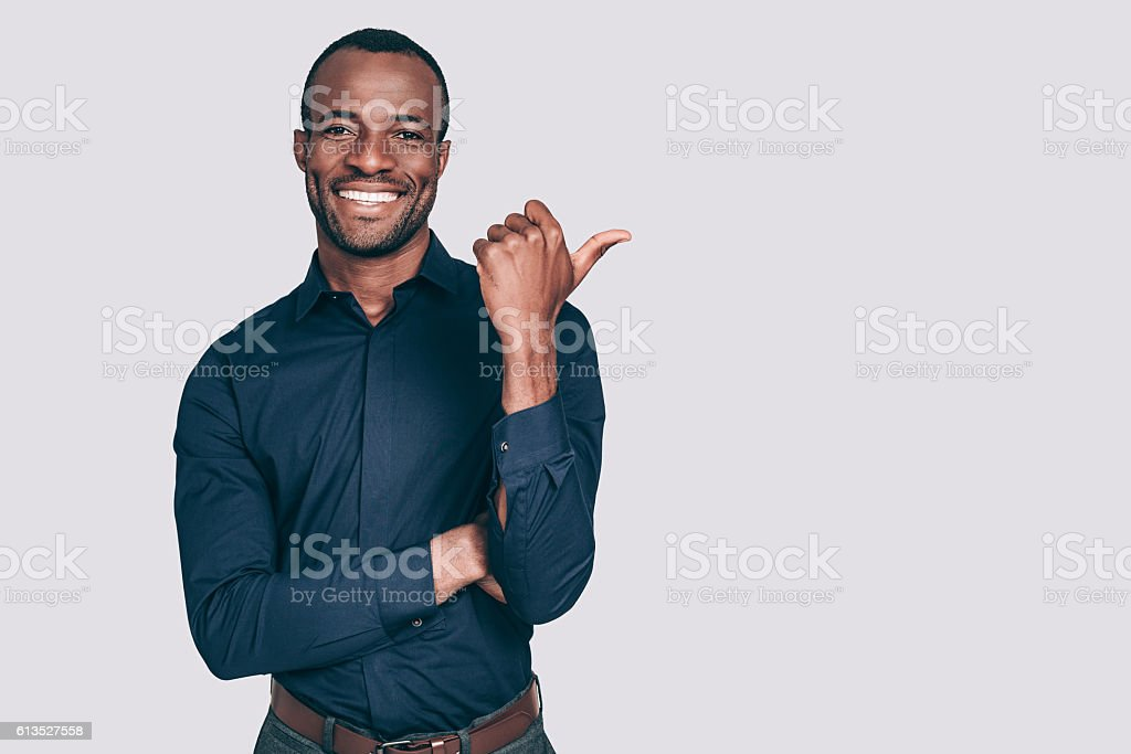 Look over there! stock photo